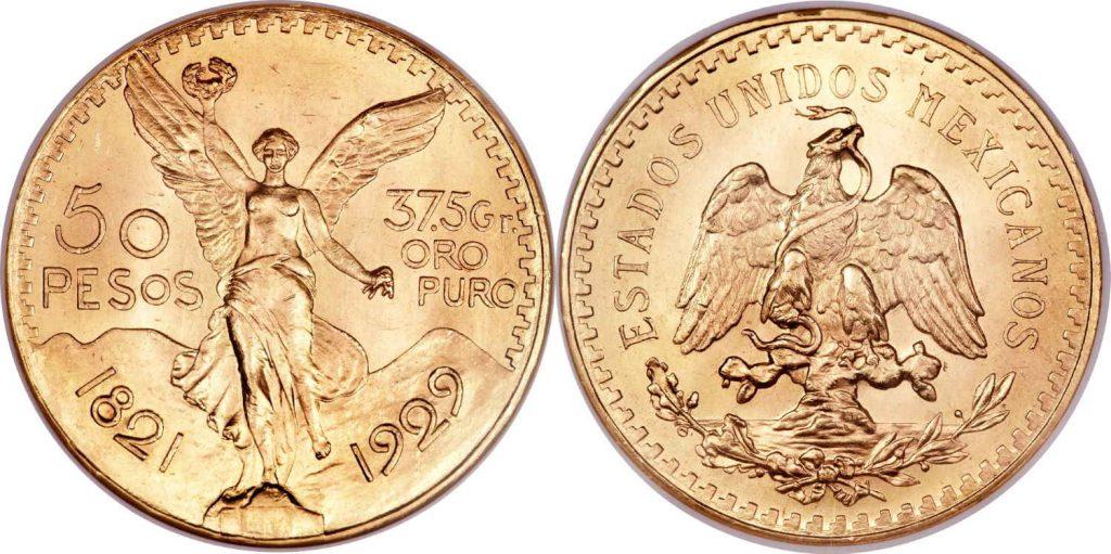 Compramos su moneda de oro 50 pesos Mexico